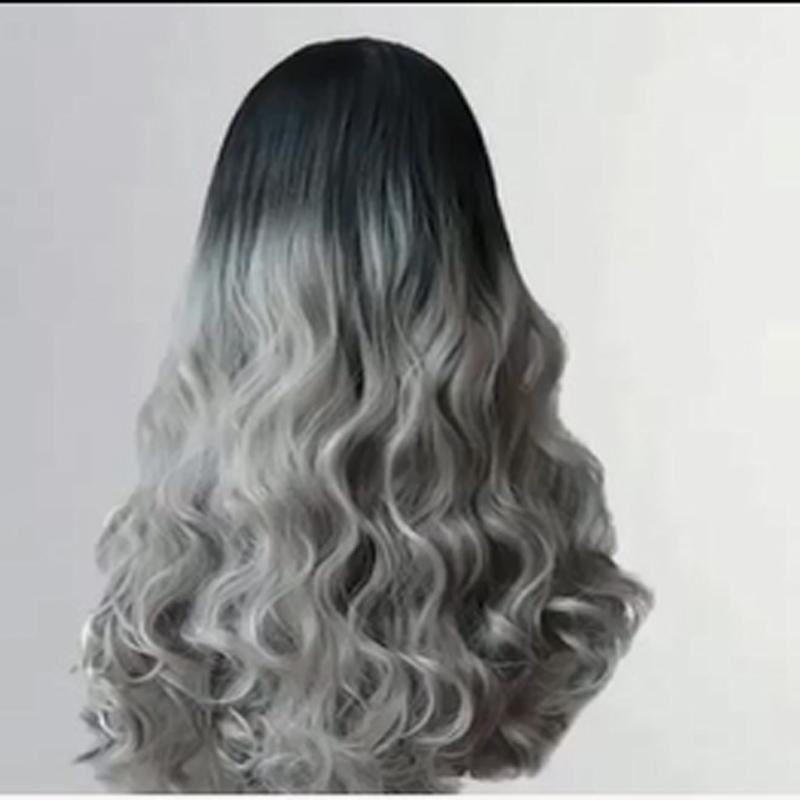 Ombre Grey Body Wave Wig