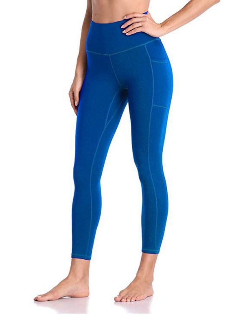 Free Shipping --Women High Waist Workout Leggings with Pockets Stretch Tummy Control Yoga Sports Pants/Free Shipping