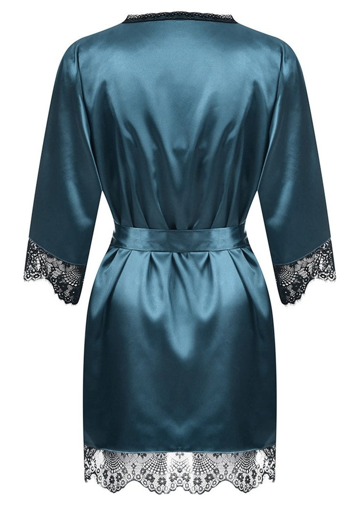 2020 New Silk Long Sleeve Robe Lingerie Sleepwear Set/Free Shipping