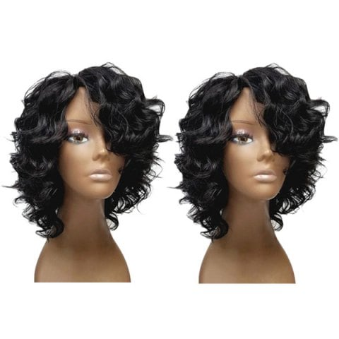 Short Side Bang Fluffy Loose Wave Synthetic Wig