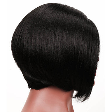 Yaki Style Bob L Part Wig Brown Natural Black Hair Natural Hairline Brown Wig/Free Shipping