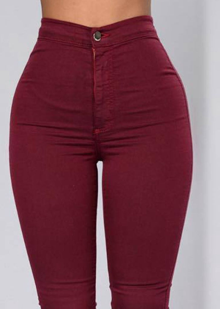 Women Fashion Elastic Mid Waist Slim Leggings Slim Pants/Free Shipping