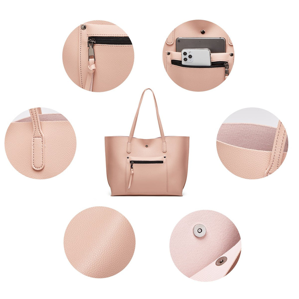 11 Colors Women Fashion Soft Leather Tote Shoulder Bag Big Capacity Top Handle Messenger Handbag/Free Shipping