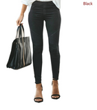 Free Shipping -- Women Pants High Waist Elastic Trousers Female Trouser Casual Pencil Pant