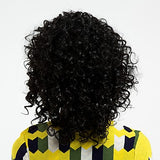 Curly Style Side Part Lace Front Wig Black Natural Black  Hair