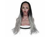 Lace Front Wig For Black Woman Ombre Grey/Free Shipping