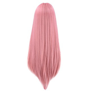 Natural Straight Long Lace Front Synthetic Wig Fashion Women Pink Cute Wigs
