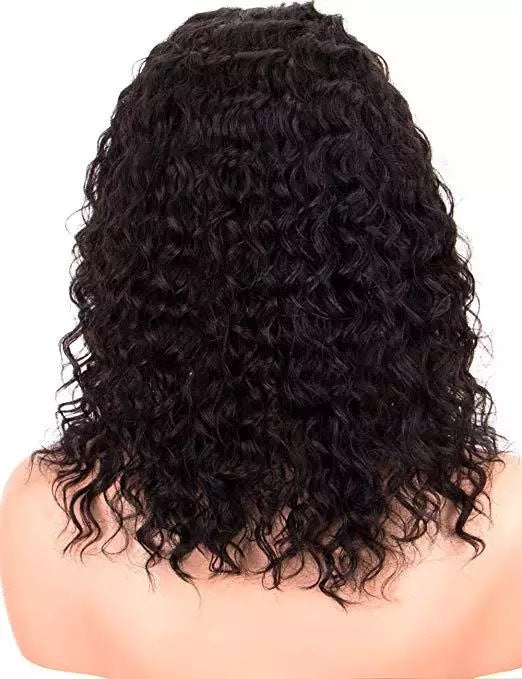 Black Brazilian Rmey Hair Bob Lace Wigs For Women