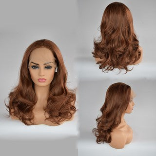 Curly Wig Glueless Full Lace Wigs Brown Women Indian Remy Human Hair Lace Front