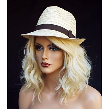 Natural Hairline Blonde Wig Women's Short / Medium Length Lace Front/Free Shipping
