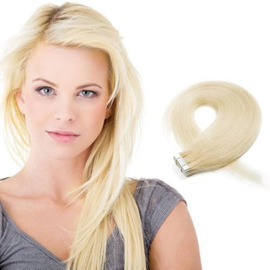 20pcs 50g Straight Tape In Hair Extensions #24 Sandy Blonde