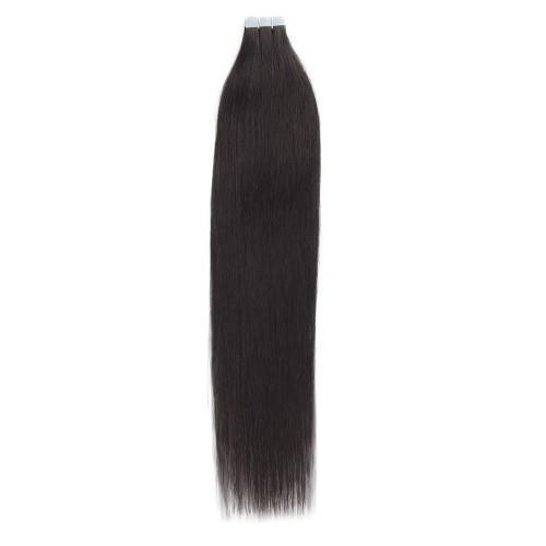 20pcs 50g Straight Tape In Hair Extensions #1B Natural Black/Free Shipping