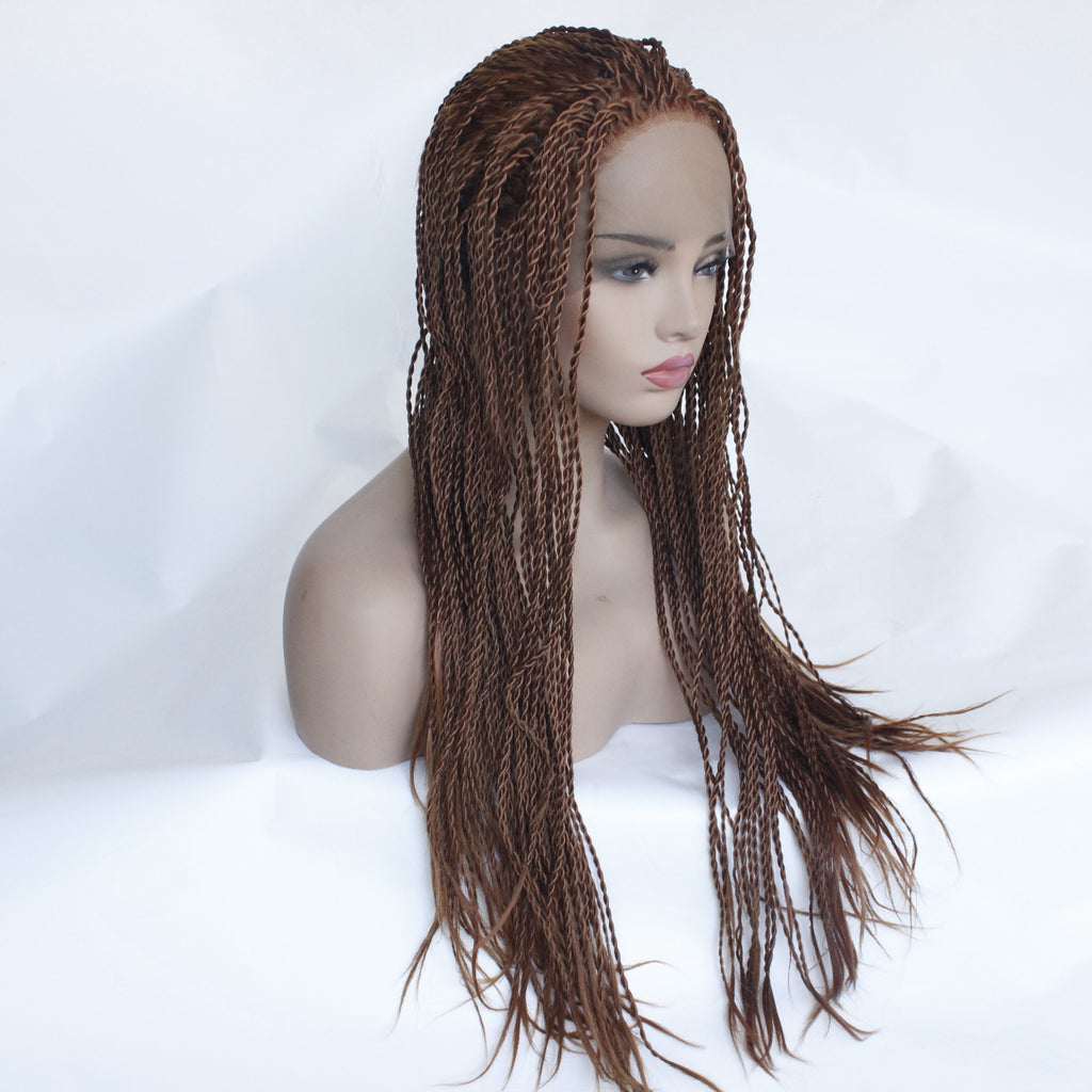 Long Straight Heat Resistant Hair Box Braids Women Wigs for Black Women Free Part