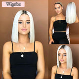 Hot Sales Short Platinum Bob Wig For Women/Free Shipping