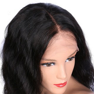 Short Bob Lace Front Wigs Human Hair Natural Wave Non-Remy Black
