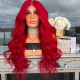 Red Lace Wigs With Bangs a€?Best Lace Front Wigs