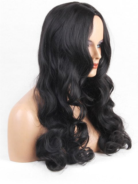 Foxwigs Lace Front Wigs Hair Center Part Long Body Wave Wig