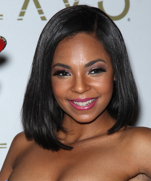 Wigsfox 24  Side Bangs Wavy Long Wigs For African American Women The Same As Hairstyle In Picture