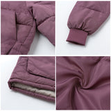 Fashion Women Parka Thick Plus Size Hooded Warm Zipper Pockets Padded Overcoats/Free Shipping