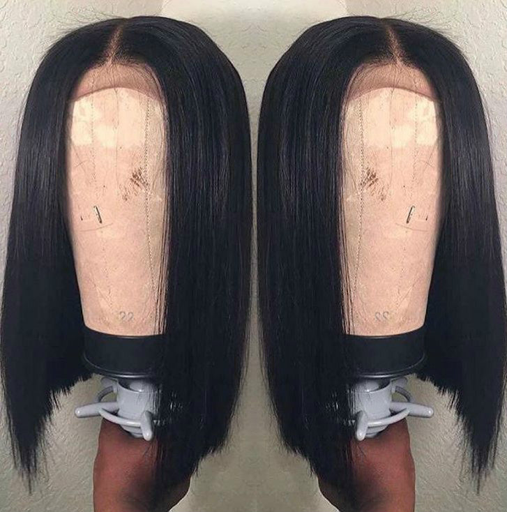 Wigsfox 24  Straight Long Wigs For African American Women The Same As The Hairstyle In The Picture