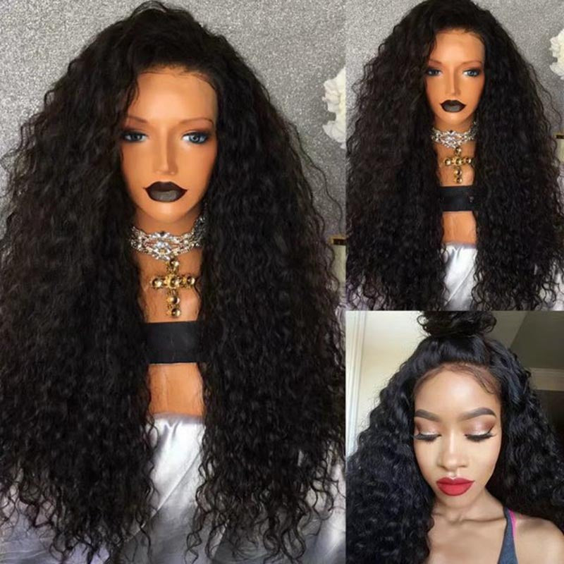 Free Part Long Water Wave Party Lace Frontal Wig/Free Shipping