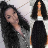 Free Part Long Water Wave Party Lace Frontal Wig