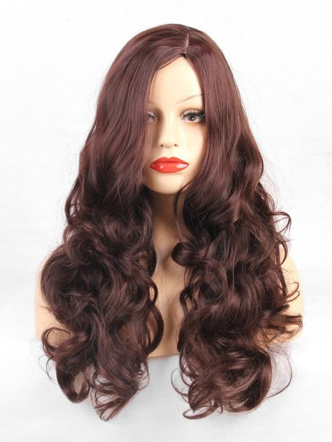 Ladystar Lace Front Wigs Long Side Part Loose Curly Synthetic Wig
