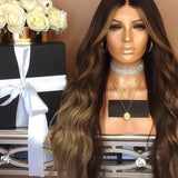 Black and brown wavy lace front hair/Free Shipping