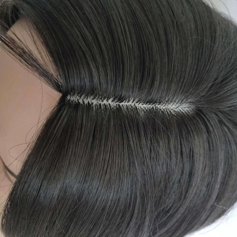 Partial Short Bobo Lace Front Human Hair Wigs For Women Black Color Wig/Free Shipping