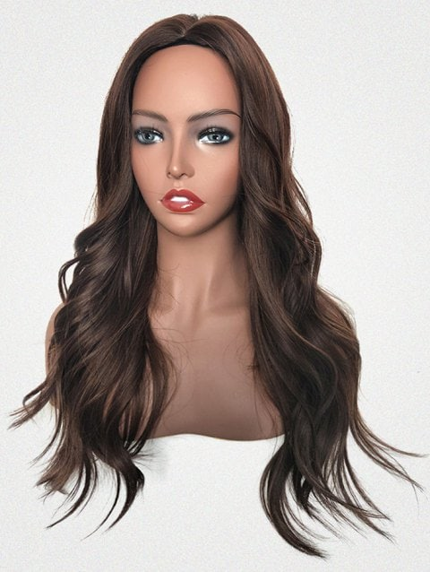 Foxwigs Lace Front Wigs Center Part Long Body Wavy Hair Wig