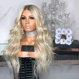 PLATINUM 19 INCHES SMALL CAP Lace Wigs For Wedding