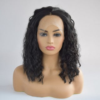Curly Wig Glueless  Lace Wigs Black Women Indian Remy Human Hair Lace Front