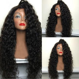 Fantasy Beauty 180% Density Synthetic Lace Wigs Heat Resistant Hair Long Curly Synthetic Wigs for Black Women Side Part