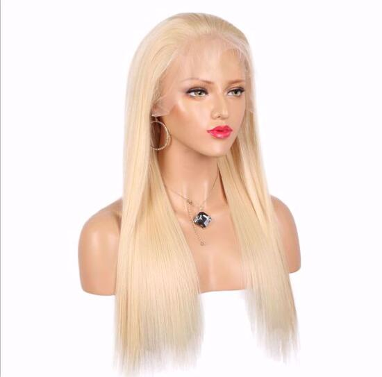 Natural Color Free Part Blonde 150% density Lace Front Wig/Free Shipping
