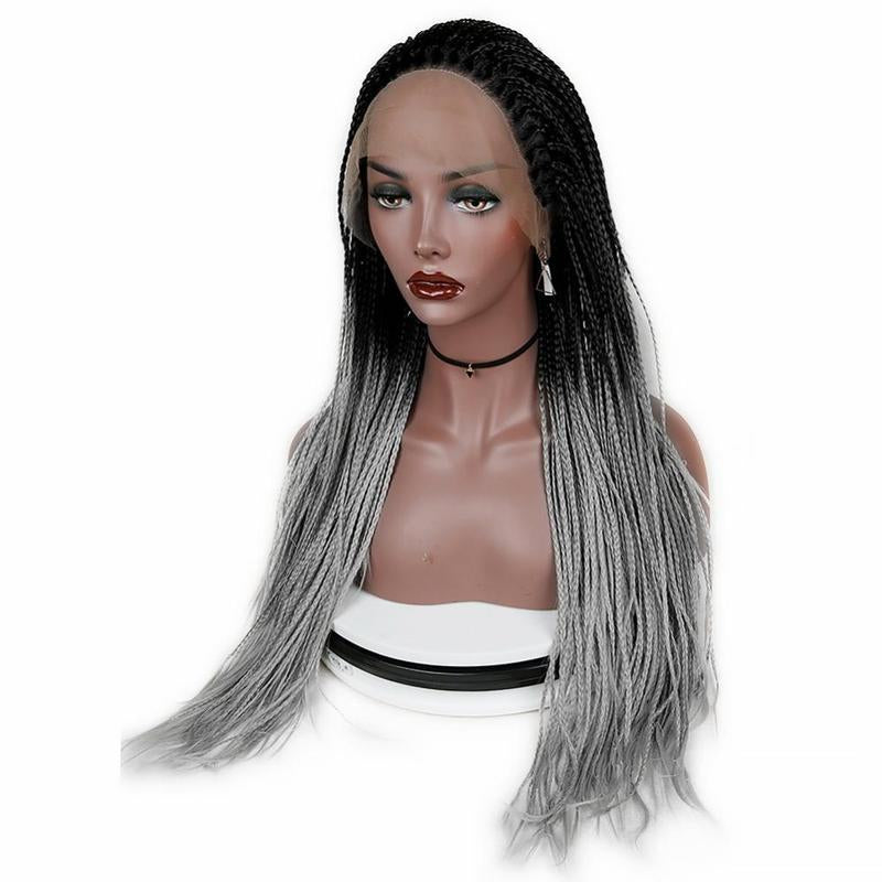 Lace Front Wig For Black Woman Ombre Grey