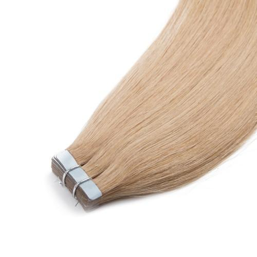 50g Straight Tape In Hair Extensions #27 Strawberry Blonde