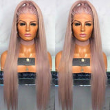 Light pink wavy Lace Front Wig