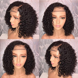 Front lace synthetic short curly hair wig Brazilian Less Lace Front Full Wig