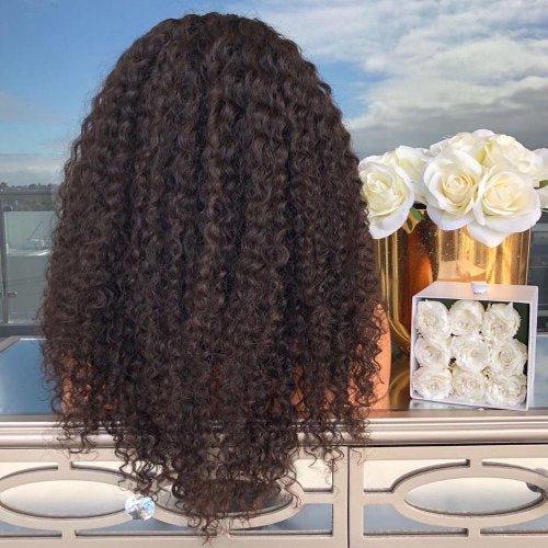 Small Roll Long Curly Chemical Fiber Hair Wig Black Fashion Classic Wig - Black/Free Shipping