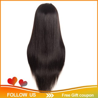 ?Ready Stock?Lace Frontal Wig For Black Women Remy Hair Lace Front Wig 24 Inches