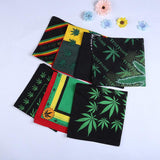 Dozen 12 Pcs Leaf Print Head Scarf Cotton Multifunctional Headwear Cowboy Bandanas Headwrap Wristband