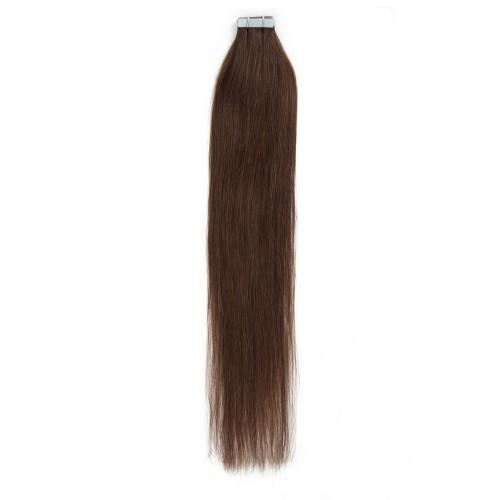 20pcs 50g Straight Tape In Hair Extensions #4 Chocolate Brown/Free Shipping