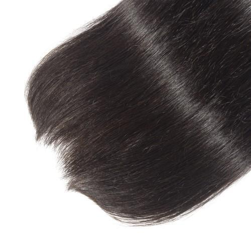 Straight Diamond 8A Virgin Peruvian Hair Natural Black 100g/Free Shipping