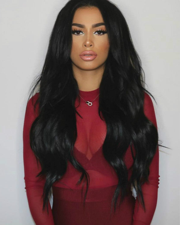 Wigsfox 14  Wavy Wigs For African American Women The Same As The Hairstyle In The Picture