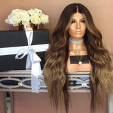 Black and brown wavy lace front hair