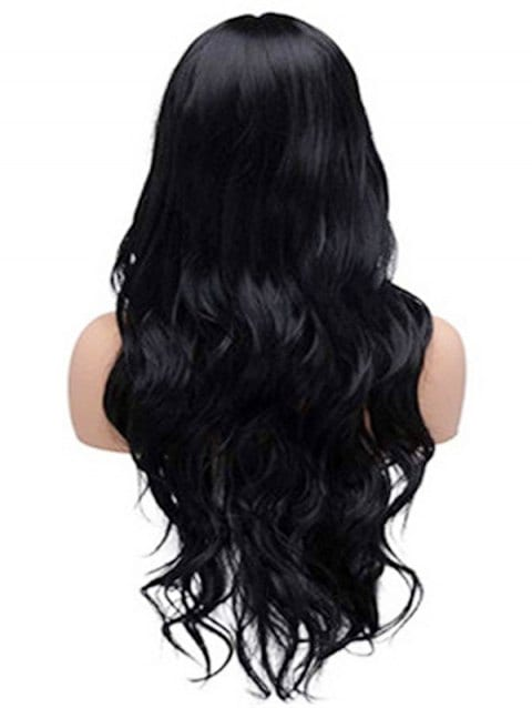 Foxwigs Lace Front Wigs Body Wave Neat Bang Long Hair Wig/Free Shipping