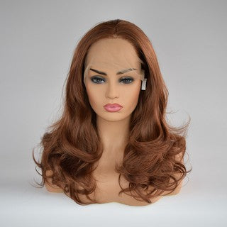 Curly Wig Glueless Full Lace Wigs Brown Women Indian Remy Human Hair Lace Front/Free Shipping