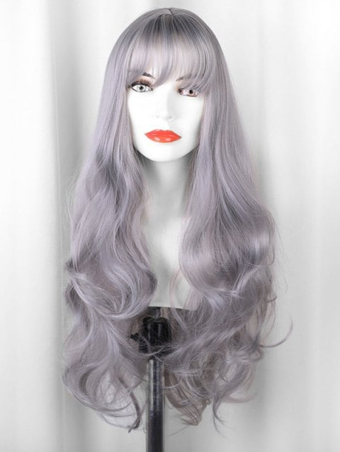 Long Body Wave See-through Bang Synthetic Wig