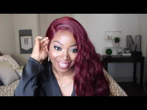 Red Red Wine Synthetic Lace Front Wig