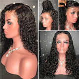 Curly Brazilian Virgin Hair Full Lace Wig with Baby Hair(10inch with 150 density Lace Front Wig)/Free Shipping